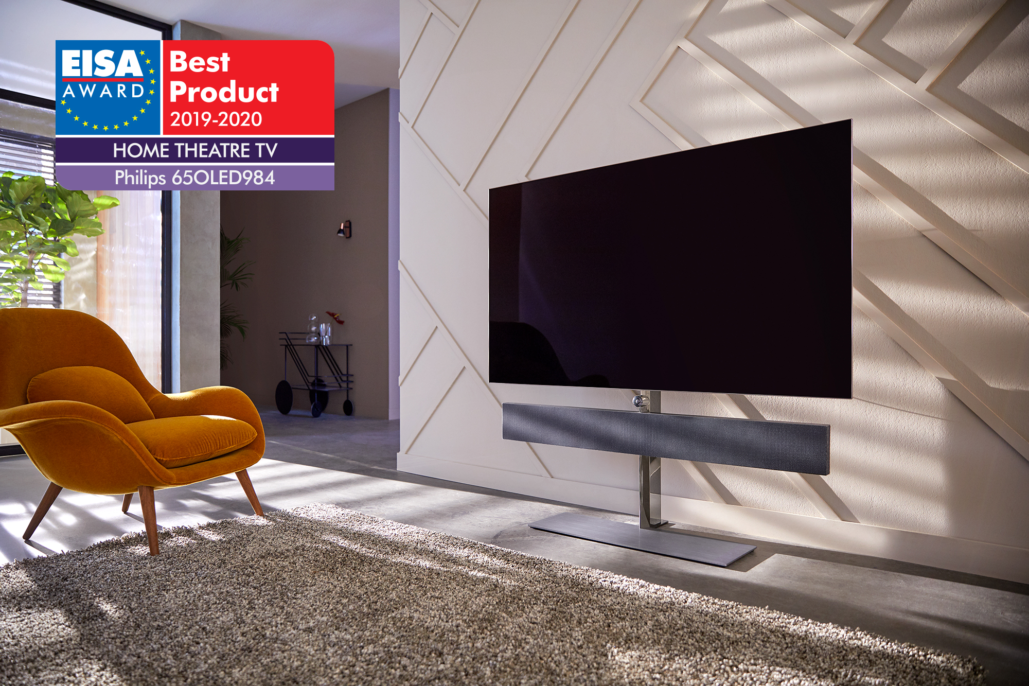 Philips 2019: 65OLED984/12 EISA AWARD - HOME THEATRE TV - Best Product 2019-2020